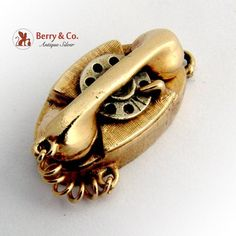 Vintage Dial Phone Charm 14 K Gold. This great charm is long, wide, tall and weighs grams. Vintage Charm Bracelet, Charm Jewelry, Garnet Earrings, Dangle Earrings, Antique Silver, Gemstone Rings, Bangle Bracelets, Rings For Men, Jewelery