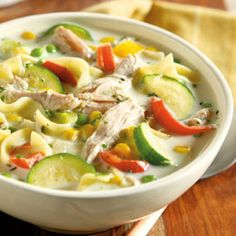 Creamy farmhouse chicken and garden soup....