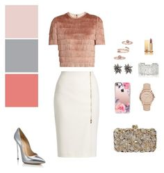 """""""Where is my spring?"""" by beehazz on Polyvore featuring мода, Raey, MaxMara, Casadei, Casetify, Burberry, Alexis Bittar, Kendra Scott, Suzanne Kalan и Yves Saint Laurent"""