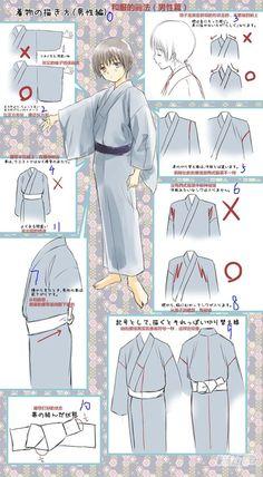 Reference for Drawing Kimono