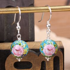 pretty rose earings