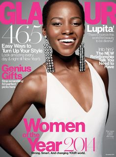 Lupita Nyong'o's Glamour December 2014 Issue Cover Photos: Glamour.com