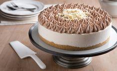 עוגת גבינה קרה עם קרם קפה ושוקולד לבן (צילום: דרור עינב ,אוכל טוב)