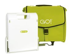 The Accuquilt Go Cutter, designed to fold for easy storage and easier to carry to the Patchwork class than the Studio. Plus, a very nice bag to hold cutter and all those wonderful dies.