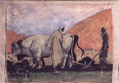 Peinture Algérie - Labour en Algérie par Emile Aubry