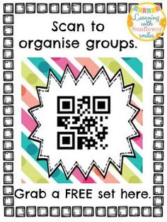 5 ways to use qr codes in the math classroom blog posts on scan the code for your group number get some more tips on using qr codes fandeluxe Images