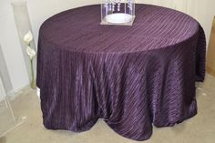 Ruched tablecloth!