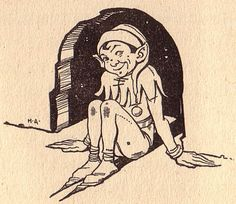 Hinter den blauen Bergen Märchen von Ebba Langenskiörld A. Anton & Co. Verlag Verlags-Nr. 914 (Leipzig/Deutschland; 1932) Zeichnung: H. Artelius