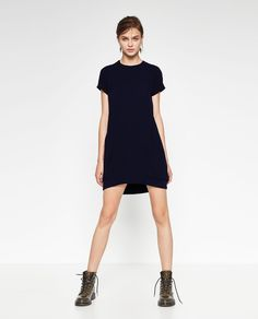 CONTRAST ZIP DRESS-DRESSES-WOMAN | ZARA United States