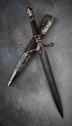 Cerimonial Dagger, not sure what ceremony though Pretty Knives, Cool Knives, Swords And Daggers, Knives And Swords, Knife Aesthetic, Armas Ninja, Cool Swords, Ninja Weapons, Dagger Knife