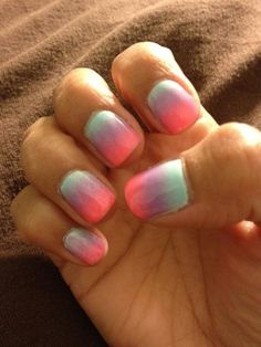 Love the dye nails
