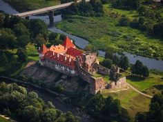 Bauska Castle (built in the 15th century) in Latvia