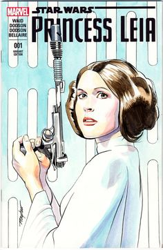 Mike Mayhew Original PRINCESS LEIA Blank Sketch Cover Bust in Color, in MikeMayhew's Sketch Covers Comic Art Gallery Room