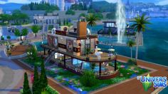 Boat Restaurant Nautilus by chipie-cyrano at L'UniverSims via Sims 4 Updates
