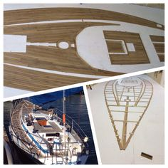 Teak decking from templates to completed deck ready to ship !