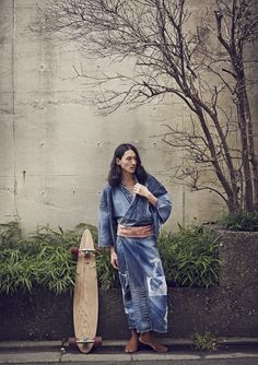 メンズ、ダメージ・ジーンズ浴衣。☆Damaged jeans yukata for men.