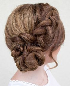 braided wedding hairstyles, bridal hairstyles with plaits - braided wedding updo