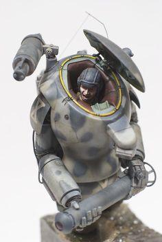 Ma.K. SAFS-R Raccoon. Built by dainaka (大 仲) #Maschinen_Krieger #robot #model…