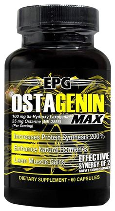 - OSTAGENIN Ostagenin is the latest cutting stack from famed manufacturer EPG. Customers report solid lean hard gains and repeat sales have been strong. Sides are relatively low for this stack and its non-hormonal forumula can also be used by women. Get Shredded, Bodybuilding Supplements, Repeat, Room Ideas, Muscle, Strong, Weight Loss, Memes, Top