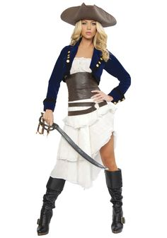 The most popular Cool Tiered Jacket Included Pirate Womens Gypsy Fantasia Fancy party dress Halloween costumes(China (Mainland))