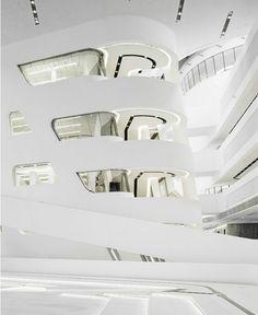 Interior de Fibroconcreto de la marca FibreC diseñado por Zaha Hadid. Elegante y simple. Uno de los materiales para fachada de élite a nivel mundial