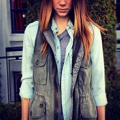 love this vest and the simple layered look