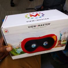 An awesome Virtual Reality pic! Got a little surprise today from the team... #viewmaster #vr #ihelped #virtualreality #cardboard #google #ux #mattel #toys #newnew #bigkid #funtimes #instavr by crossproduct check us out: http://bit.ly/1KyLetq