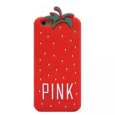 VS pink iPhone 6/6s case Brand new ‼️ 3D cute fruit strawberry !! soft, durable pull on case . Silicone. No more scratches!!! Accessories Phone Cases