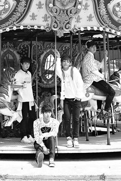 Bangtan Boys I love how J-Hope is trying to look cool while on that horse XD <3