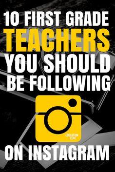 First Grade Teachers to Follow on Instagram