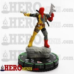 Evil Deadpool is piece number 019B in the Marvel Comics Deadpool HeroClix set. This Uncommon Prime piece costs 100 points, has a Speech Bubble power, has a trait, has a 6 range and has 7 clicks of life. Evil Deadpool has the Assassin, Deadpool corps, and Monster keywords.
