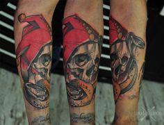 Lukas Zglenicki- Cykada Sopot #tattoo #jestertattoo #snakes