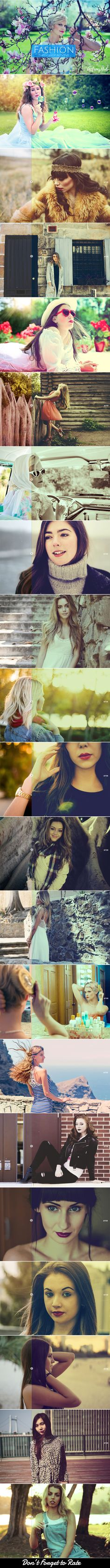 Buy 20 Fashion Photoshop Actions By Actionshub On GraphicRiver Presenting A Look Action That Can Be Used For Any