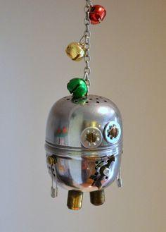 Tea Bot Ornament - Let's Make it a Robot Holiday