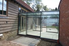 Glass Links between buildings – Glass Structures Limited – Corridor 2020 Exterior Design, Interior And Exterior, Glass Walkway, Contemporary Barn, Bungalow Renovation, Glass Extension, Safe Glass, Glass Structure, Glass Floor