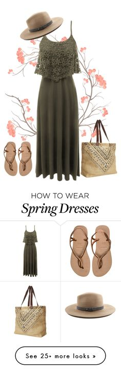 """Spring Maxi Dress"" by le3noclothing on Polyvore featuring Rip Curl, LE3NO, Havaianas, rag & bone, women's clothing, women, female, woman, misses and juniors"