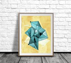 Geometric Minimalist Wall Art Crystal Printable by pickApixelArt