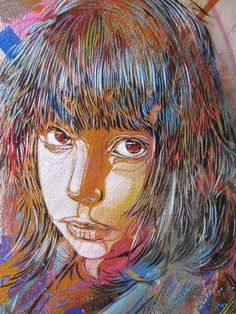 Street art in London: C215