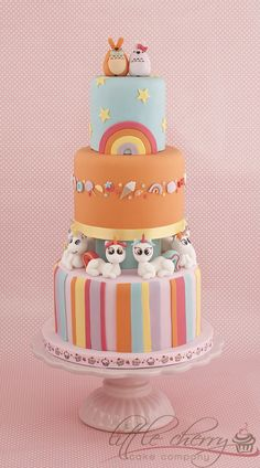 Harajuku/Kawaii themed Cake - with unicorns and Totoro!