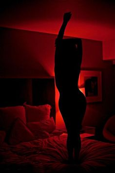 Silhouette with red mood lighting, subtle, elegant, simple, seductive Photo D Art, Foto Art, Photo Wall, Red Rooms, Dark Rooms, Red Aesthetic, Devil Aesthetic, Boudoir Photography, Red Photography
