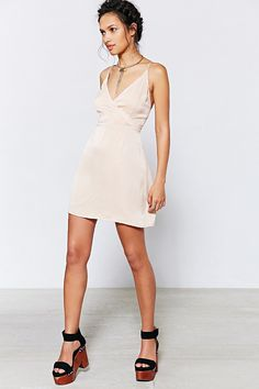Kimchi Blue Wrap Mini Dress - Urban Outfitters