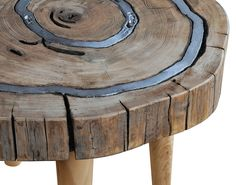 "Tavolino Ganimede ""Ganimede"" - table by Livyng Ecodesign  aluminum melted on wood"