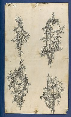 Girandoles, in Chippendale Drawings, Vol. I