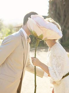 Single Giant Paper Peony   Ali Degraff Photography   See More: http://heyweddinglady.com/love-bloom-gorgeous-paper-flower-ideas-wedding/