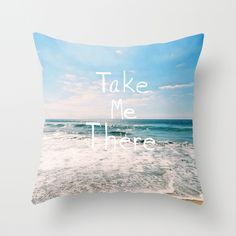 Take Me There... Throw Pillow cover by Lisa Argyropoulos (pillow insert available for purchase)