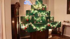 Real life Minecraft Christmas Tree - Youtube user: IgniteMotion.com