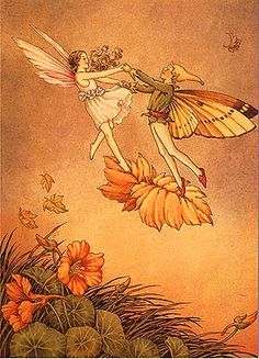 ≍ Nature's Fairy Nymphs ≍ magical elves, sprites, pixies and winged woodland faeries - Nasturium Fairies