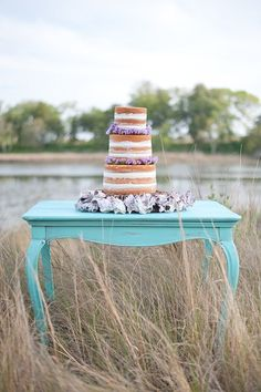 This mint and lavender, sea glass inspired, beach wedding inspiration shoot is filled with so many pretty details it has dream wedding written all over it. Beach Wedding Men, Beach Wedding Bouquets, Purple Wedding, Dream Wedding, Spring Wedding, Wedding Colors, Dusty Blue, Wedding Cake Rustic, Wedding Cakes
