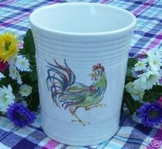 "Fiesta® ""Rooster"" Utensil/Tool Crock by Homer Laughlin China 