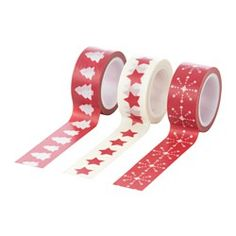 VINTER 2016, Roll of tape, red, white